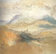 Joseph Mallord William Turner View of an Alpine Valley probably the Val d'Aosta (mk10) oil painting