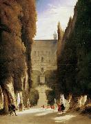 Karl Blechen The Gardens of the Villa d'Este (mk09) oil painting reproduction