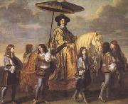 LE BRUN, Charles Chancellor Seguier at the Entry of Louis XIV into Paris in 1660 (mk08) oil painting