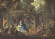 LE BRUN, Charles The Adoration of the Shepherds (mk05) oil painting
