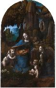 Leonardo Da Vinci Virgin of the Rocks,completed (mk08) oil painting