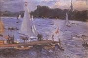 Max Slevogt The Alster at Hamburg (mk09) oil painting