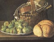 Melendez, Luis Eugenio Still Life with Figs (mk05) oil painting