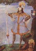 Nicholas Hilliard Portrait of George Clifford,Earl of Cumberland (mk08) oil painting