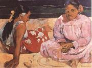 Paul Gauguin Tahitian Women (On the Beach) (mk09) oil painting reproduction