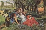 William Holman Hunt The Hireling Shepherd (mk09) oil painting