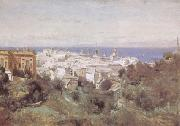 camille corot View of Genoa (mk09) oil painting