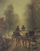 constant troyon On the Way to Market (san05) oil painting
