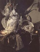Aelst, Willem van Still Life of Dead Birds and Hunting Weapons (mk14) oil painting