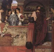 Alma-Tadema, Sir Lawrence Hadrian Vistiting a Romano-British Pottery (mk23) oil painting reproduction