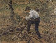 Camille Pissarro Pere Melon Sawing Wood,Pontoise (nn02) oil painting reproduction