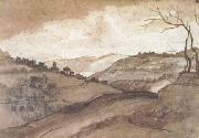 Claude Lorrain Landscape Pen drawing and wash (mk17) oil painting reproduction