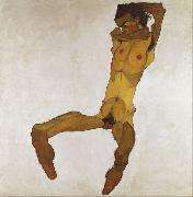 Egon Schiele Seated Male Nude (mk12) oil painting reproduction