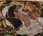 Egon Schiele Death and Maiden (mk12) oil painting reproduction