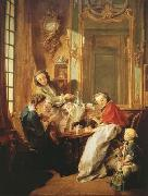 Francois Boucher The Breakfast (mk08) oil painting reproduction