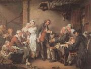 Jean Baptiste Greuze L'Accordee du Village (mk08) oil painting reproduction