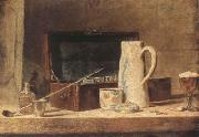 Jean Baptiste Simeon Chardin Pipe and Jug (mk08) oil painting reproduction