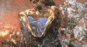 Mikhail Vrubel Seated Demon (mk19) oil painting reproduction