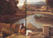 Nicolas Poussin Landscape with Saint Matthew and the Angel (mk10) oil painting reproduction
