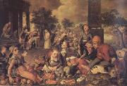 Pieter Aertsen Christ and the Adulteress (mk14) oil painting