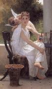 Adolphe William Bouguereau Work Interrupted (mk26) oil painting