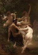 Adolphe William Bouguereau Nymphs and Satyr (mk26) oil painting