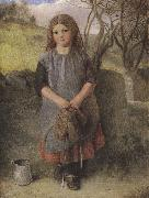 Alexander Davis cooper The Little Milkmaid (mk37) oil painting