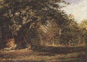 Alfred wilson cox The Woodmans'Bower,Birkland,Sherwood Forest (mk37) oil painting