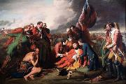 Benjamin West The Death of Wolfe (mk25) oil painting reproduction