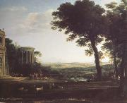 Claude Lorrain Landscape with a Sacrifice to Apolio (n03) oil painting reproduction