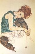 Egon Schiele Seated Woman with Bent Knee (nn03) oil painting reproduction