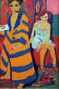 Ernst Ludwig Kirchner self-Portrait with Model (nn03) oil painting