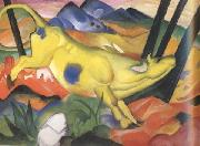 Franz Marc Yellow Cow (mk34) oil painting reproduction