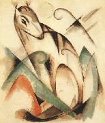 Franz Marc Seated Mythical Animal (mk34) oil painting reproduction