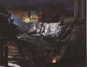 George Bellows Excavation at Night (mk43) oil painting reproduction