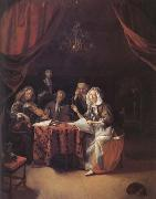 Godfried Schalcken A Family Concert (mk25 oil painting