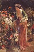 John Frederick Lewis In the Bey's Garden Asia Minor (mk32) oil painting