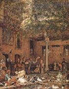 John Frederick Lewis The Hosh (Courtyard) of the House of the Coptic Patriarch Cairo (mk32) oil painting