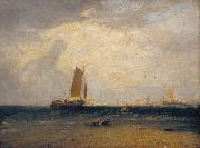 Joseph Mallord William Turner Fishing upon Blythe-sand,tide setting in (mk31) oil painting