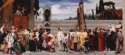Lord Frederic Leighton Cimabue's Madonna being carried through the Streets of Florence (mk25) oil painting