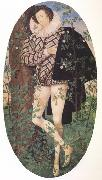 Nicholas Hilliard Young Man Leaning Against a Tree (nn03) oil painting