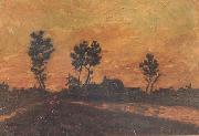 Vincent Van Gogh Landscape at Sunset (nn04) oil painting reproduction