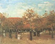 Vincent Van Gogh The Bois de Boulogne with People Walking (nn04) oil painting reproduction