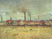 Vincent Van Gogh Factories at Asnieres Seen from the Quai de Clichy (nn04) oil painting reproduction
