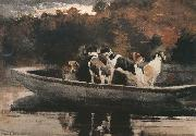 Winslow Homer Waiting for the Start (mk44) oil painting reproduction