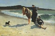 Winslow Homer Eaglehead,Manchester,Massachusetts (High Tide:The Bathers) (mk44) oil painting reproduction
