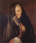 Alexander Roslin Woman with a Veil:Marie Suzanne Roslin oil painting