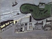 Alfred Wallis The Hold House Port Mear Square Island port Mear Beach oil painting