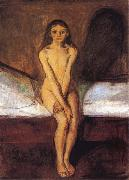Edvard Munch Puberty oil painting