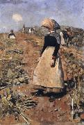 Edward Arthur Walton Berwickshire Field-Workers oil painting